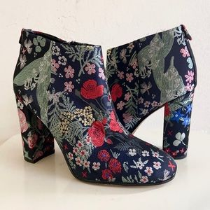 Sam Edelman Floral Jacquard Campbell Ankle Boots